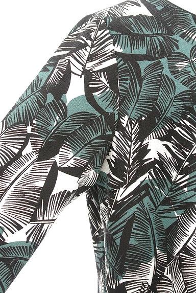 LEILIAN(レリアン)の古着「ボタニカル柄七分袖フレアカットソー(カットソー・プルオーバー)」大画像4へ