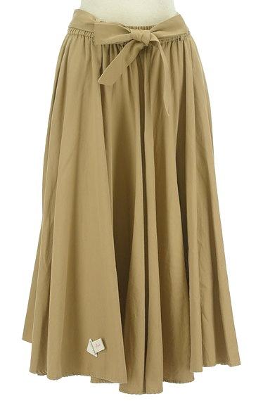 BARNYARDSTORM(バンヤードストーム)の古着「ウエストリボンミモレ丈フレアスカート(ロングスカート・マキシスカート)」大画像4へ