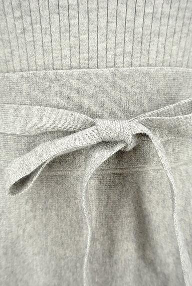 LAISSE PASSE(レッセパッセ)の古着「ビーズ刺繍入りニットフレアワンピース(ワンピース・チュニック)」大画像5へ