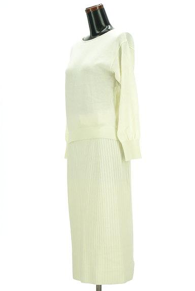 PROPORTION BODY DRESSING(プロポーションボディ ドレッシング)の古着「大人ニットのやわらかセットアップ(セットアップ(ジャケット+スカート))」大画像3へ