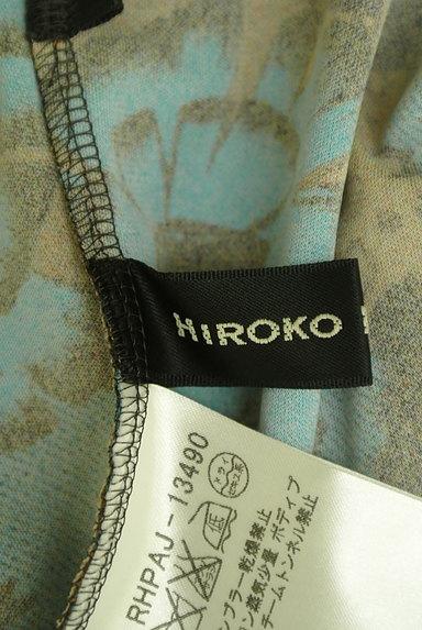 HIROKO KOSHINO(ヒロココシノ)の古着「袖リブ花柄×レオパード柄膝丈ワンピ(ワンピース・チュニック)」大画像6へ