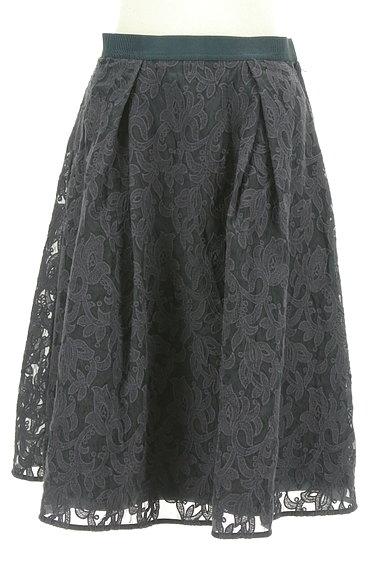 STRAWBERRY-FIELDS(ストロベリーフィールズ)の古着「膝下丈刺繍オーガンジーフレアスカート(スカート)」大画像1へ
