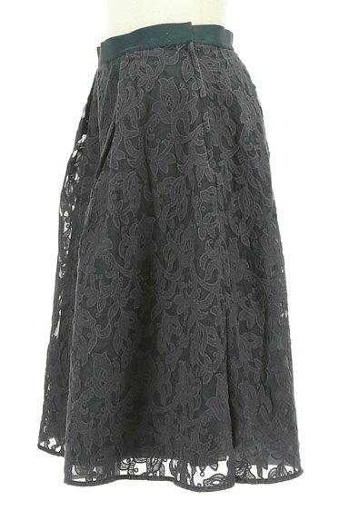 STRAWBERRY-FIELDS(ストロベリーフィールズ)の古着「膝下丈刺繍オーガンジーフレアスカート(スカート)」大画像3へ