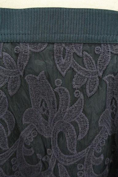 STRAWBERRY-FIELDS(ストロベリーフィールズ)の古着「膝下丈刺繍オーガンジーフレアスカート(スカート)」大画像4へ