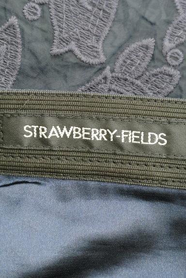 STRAWBERRY-FIELDS(ストロベリーフィールズ)の古着「膝下丈刺繍オーガンジーフレアスカート(スカート)」大画像6へ