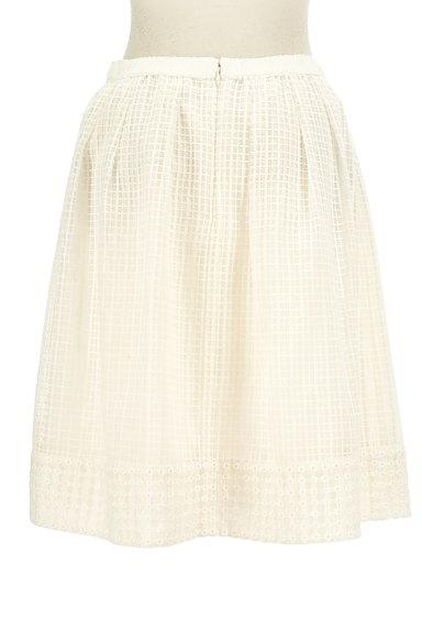 KUMIKYOKU(組曲)の古着「膝丈チェック柄刺繍シアースカート(スカート)」大画像2へ