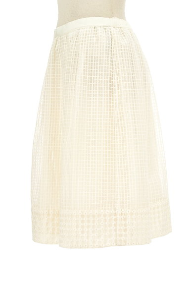 KUMIKYOKU(組曲)の古着「膝丈チェック柄刺繍シアースカート(スカート)」大画像3へ