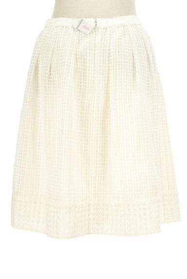 KUMIKYOKU(組曲)の古着「膝丈チェック柄刺繍シアースカート(スカート)」大画像4へ