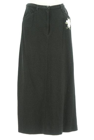 INGEBORG(インゲボルグ)の古着「花とロゴプリントやわらかスカート(ロングスカート・マキシスカート)」大画像1へ