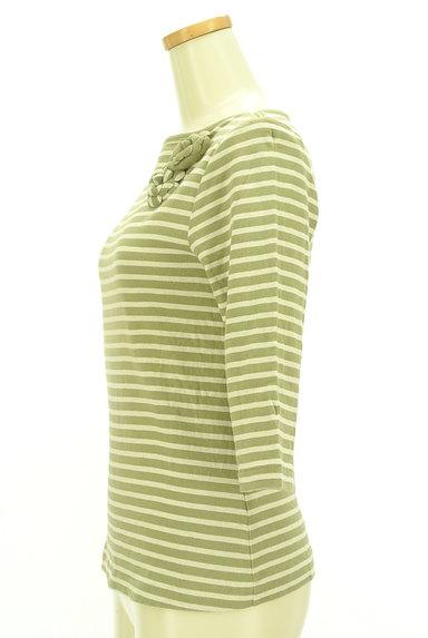 INGEBORG(インゲボルグ)の古着「花ブローチ付七分袖ボーダーカットソー(カットソー・プルオーバー)」大画像3へ