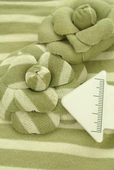 INGEBORG(インゲボルグ)の古着「花ブローチ付七分袖ボーダーカットソー(カットソー・プルオーバー)」大画像5へ
