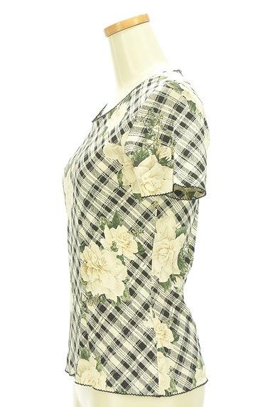 INGEBORG(インゲボルグ)の古着「花柄×チェック柄カットソー(カットソー・プルオーバー)」大画像3へ