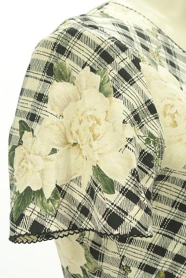 INGEBORG(インゲボルグ)の古着「花柄×チェック柄カットソー(カットソー・プルオーバー)」大画像5へ