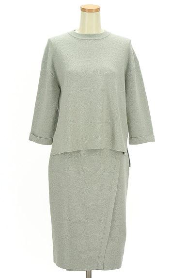 ivory court(アイボリーコート)の古着「簡単大人ニットのセットアップ(セットアップ(ジャケット+スカート))」大画像1へ