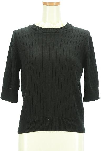AG by aquagirl(エージーバイアクアガール)の古着「シフォンフリル五分袖リブニット(ニット)」大画像1へ