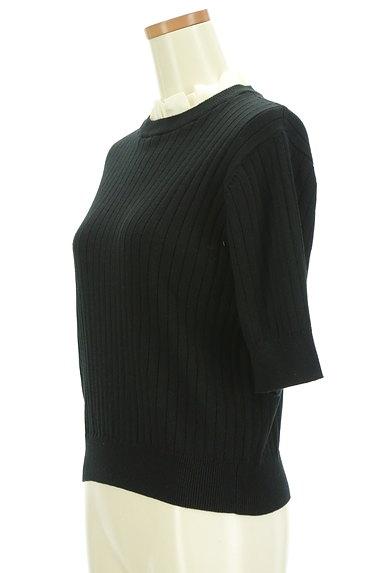 AG by aquagirl(エージーバイアクアガール)の古着「シフォンフリル五分袖リブニット(ニット)」大画像3へ