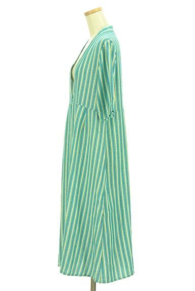 AZUL by moussy(アズールバイマウジー)の古着「ストライプロングカーディガン(カーディガン・ボレロ)」大画像3へ