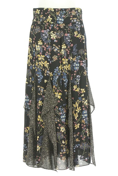 JILLSTUART(ジルスチュアート)の古着「ひらひらシフォンの花柄スカート(ロングスカート・マキシスカート)」大画像1へ