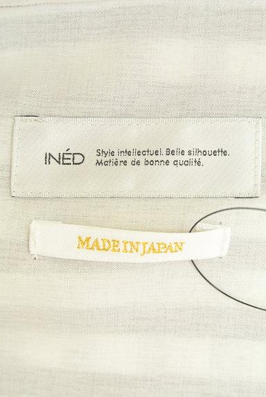 INED(イネド)の古着「ストライプ抜け襟スキッパーブラウス(ブラウス)」大画像6へ