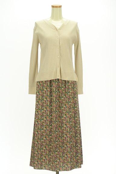 INDIVI(インディヴィ)の古着「カーデと小花スカートのセットアップ(セットアップ(ジャケット+スカート))」大画像1へ