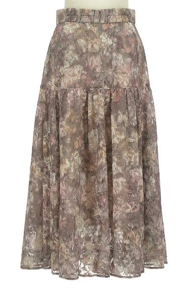 Mystrada(マイストラーダ)の古着「花柄チュールギャザースカート(ロングスカート・マキシスカート)」大画像2へ