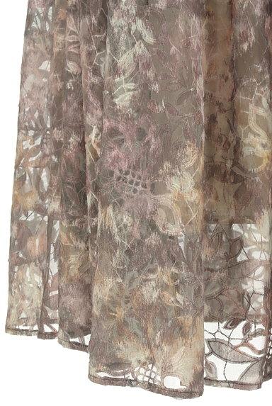 Mystrada(マイストラーダ)の古着「花柄チュールギャザースカート(ロングスカート・マキシスカート)」大画像5へ