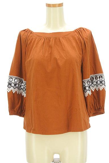 KATHARINE ROSS(キャサリンロス)の古着「ふんわり刺繍袖のギャザーカットソー(カットソー・プルオーバー)」大画像1へ