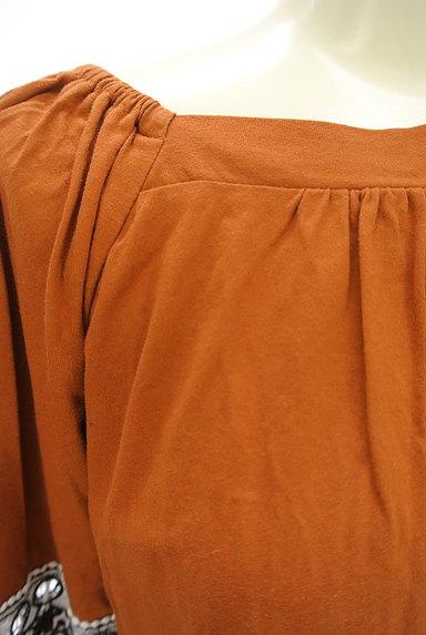 KATHARINE ROSS(キャサリンロス)の古着「ふんわり刺繍袖のギャザーカットソー(カットソー・プルオーバー)」大画像4へ