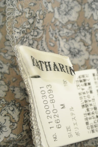KATHARINE ROSS(キャサリンロス)の古着「小花柄シアーシフォンブラウス(カットソー・プルオーバー)」大画像6へ