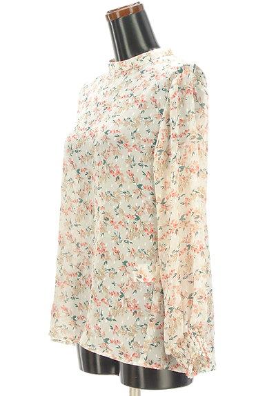 KATHARINE ROSS(キャサリンロス)の古着「ドット×小花柄シフォンブラウス(カットソー・プルオーバー)」大画像3へ
