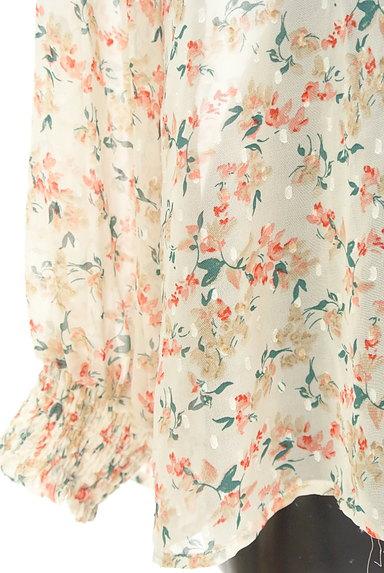 KATHARINE ROSS(キャサリンロス)の古着「ドット×小花柄シフォンブラウス(カットソー・プルオーバー)」大画像5へ
