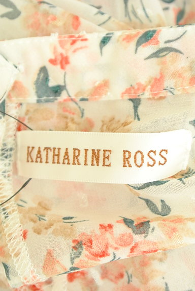KATHARINE ROSS(キャサリンロス)の古着「ドット×小花柄シフォンブラウス(カットソー・プルオーバー)」大画像6へ