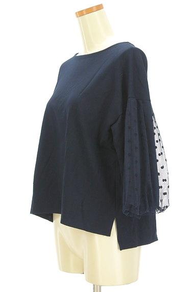 KATHARINE ROSS(キャサリンロス)の古着「ドットチュールの7分袖カットソー(カットソー・プルオーバー)」大画像3へ