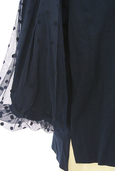KATHARINE ROSS(キャサリンロス)の古着「ドットチュールの7分袖カットソー(カットソー・プルオーバー)」大画像5へ
