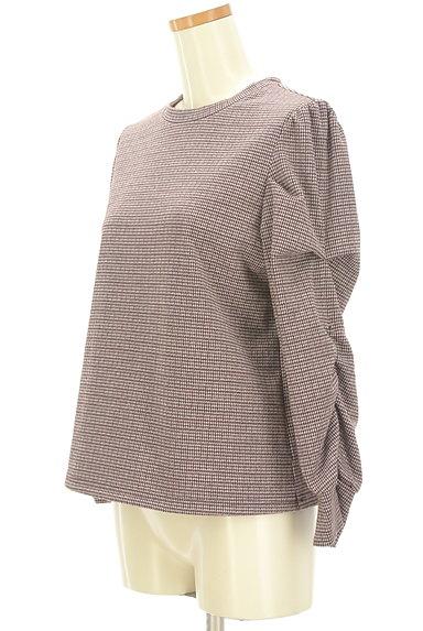 KATHARINE ROSS(キャサリンロス)の古着「袖コンシャスな千鳥カットソー(カットソー・プルオーバー)」大画像3へ