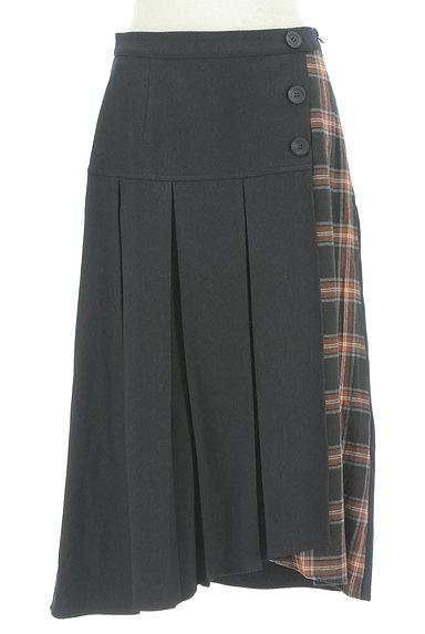 KATHARINE ROSS(キャサリンロス)の古着「プリーツラップ風切替スカート(ロングスカート・マキシスカート)」大画像1へ