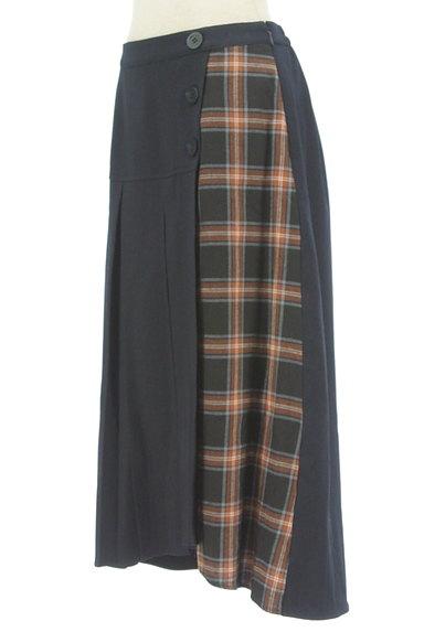 KATHARINE ROSS(キャサリンロス)の古着「プリーツラップ風切替スカート(ロングスカート・マキシスカート)」大画像3へ
