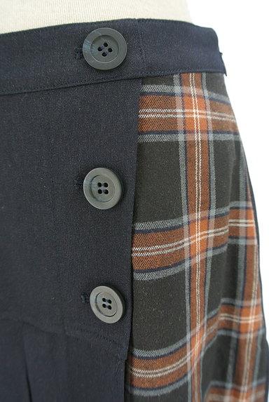 KATHARINE ROSS(キャサリンロス)の古着「プリーツラップ風切替スカート(ロングスカート・マキシスカート)」大画像4へ