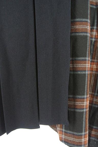 KATHARINE ROSS(キャサリンロス)の古着「プリーツラップ風切替スカート(ロングスカート・マキシスカート)」大画像5へ