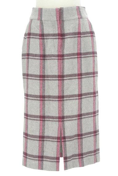 KATHARINE ROSS(キャサリンロス)の古着「ウールチェック柄タイトスカート(ロングスカート・マキシスカート)」大画像1へ