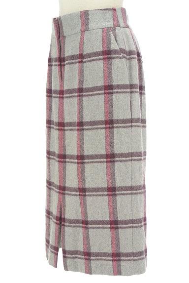 KATHARINE ROSS(キャサリンロス)の古着「ウールチェック柄タイトスカート(ロングスカート・マキシスカート)」大画像3へ