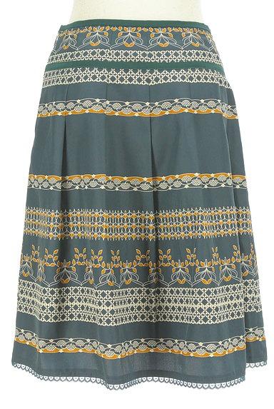 KATHARINE ROSS(キャサリンロス)の古着「レトロ総柄フレアスカート(スカート)」大画像2へ