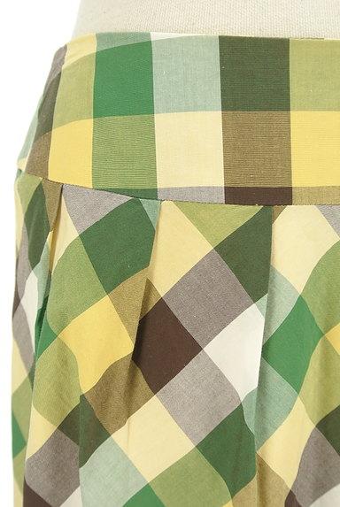 KATHARINE ROSS(キャサリンロス)の古着「ペイズリー刺繍のチェックスカート(スカート)」大画像4へ