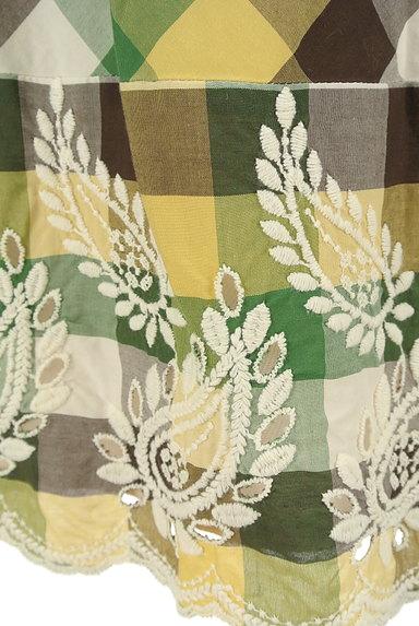 KATHARINE ROSS(キャサリンロス)の古着「ペイズリー刺繍のチェックスカート(スカート)」大画像5へ