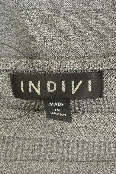 INDIVI(インディヴィ)の古着「凹凸ボーダーフレンチスリーブニット(ニット)」大画像6へ