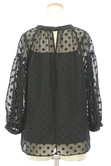 JUSGLITTY(ジャスグリッティー)の古着「ボリューム袖ドット柄シアープルオーバー(カットソー・プルオーバー)」大画像2へ