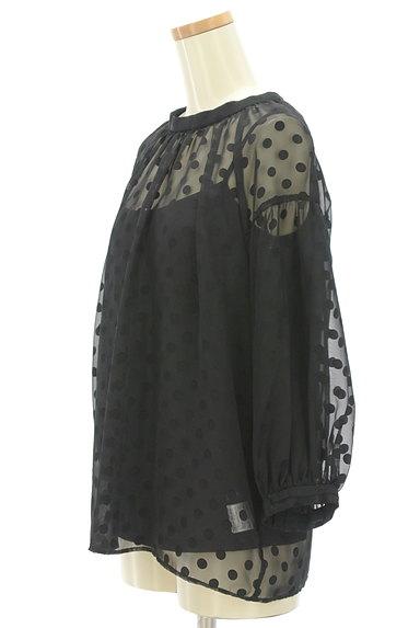 JUSGLITTY(ジャスグリッティー)の古着「ボリューム袖ドット柄シアープルオーバー(カットソー・プルオーバー)」大画像3へ