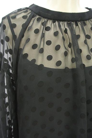 JUSGLITTY(ジャスグリッティー)の古着「ボリューム袖ドット柄シアープルオーバー(カットソー・プルオーバー)」大画像4へ