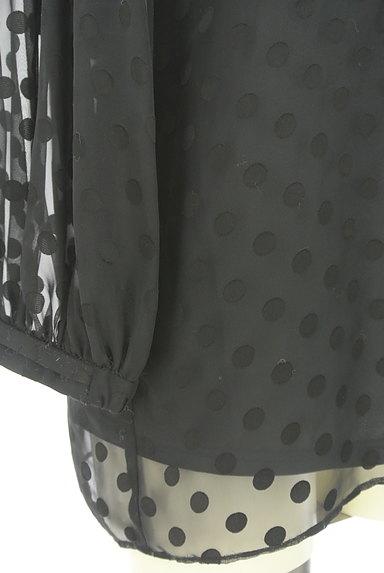 JUSGLITTY(ジャスグリッティー)の古着「ボリューム袖ドット柄シアープルオーバー(カットソー・プルオーバー)」大画像5へ