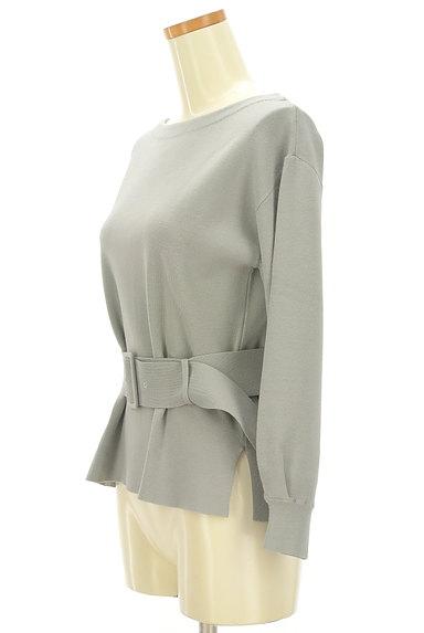 JUSGLITTY(ジャスグリッティー)の古着「ウエストベルト裾スリットニット(ブラウス)」大画像3へ
